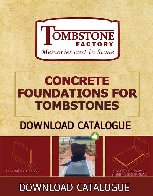Catalog for Concrete Foundations for Tombstones - Tombstone factory